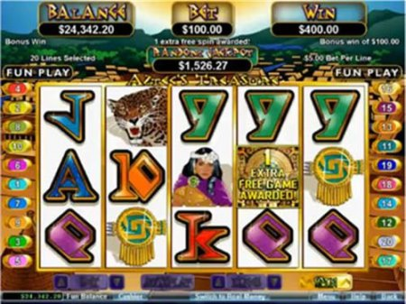 Aztec's Treasure online pokies game