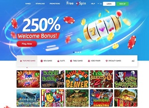 FreeSpin Casino Home Page