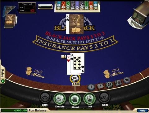 Table Games at Jackmillion Online Casino