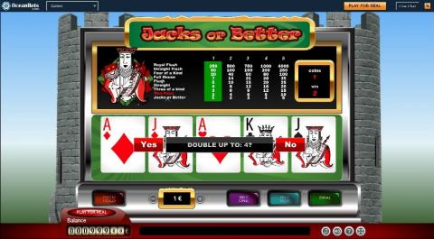 Oceanbets Casino Video Poker